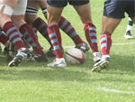 Scrumming in a Rugby match